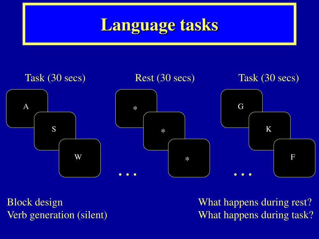 Language tasks