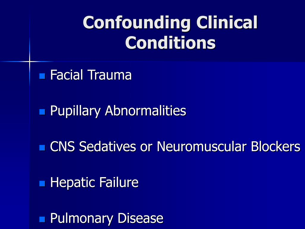 Confounding Clinical Conditions