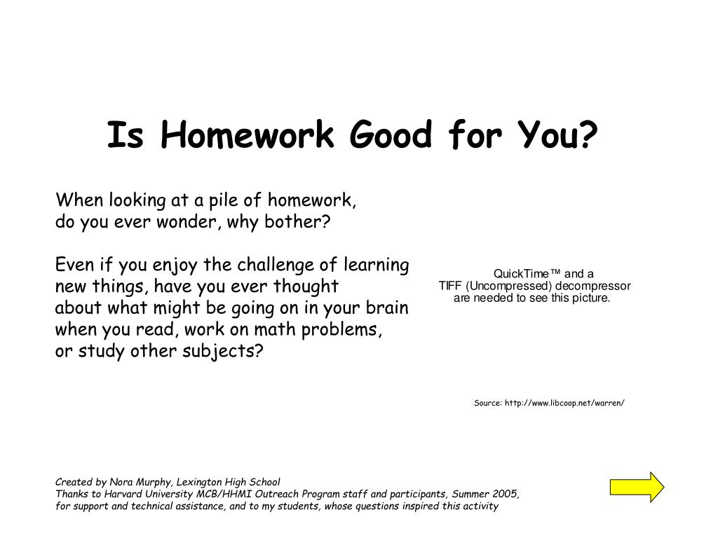 is homework good for you