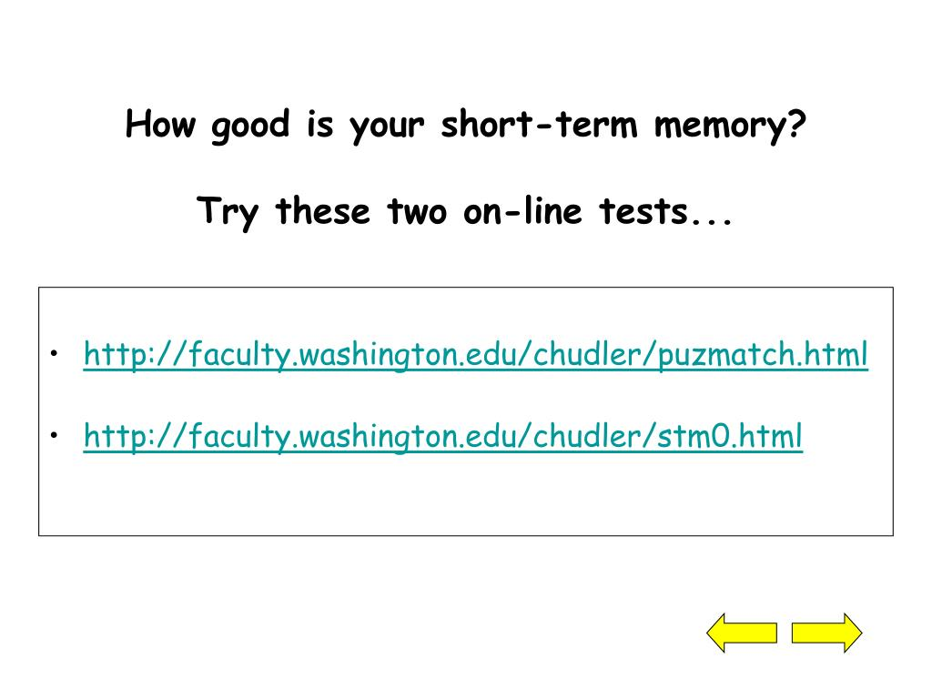 How good is your short-term memory?