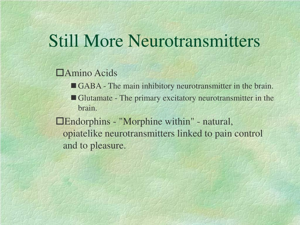 Still More Neurotransmitters