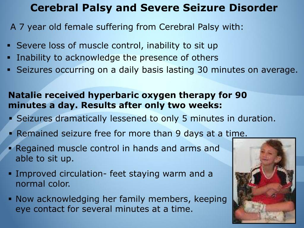 Cerebral Palsy and Severe Seizure Disorder