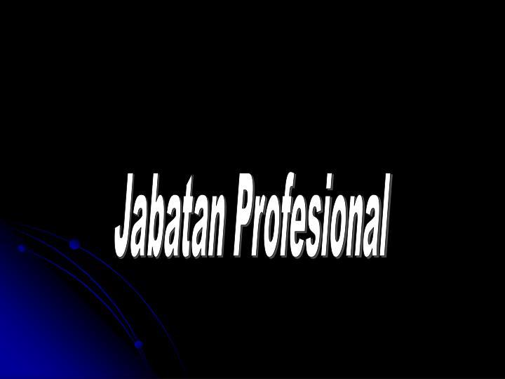 Jabatan Profesional