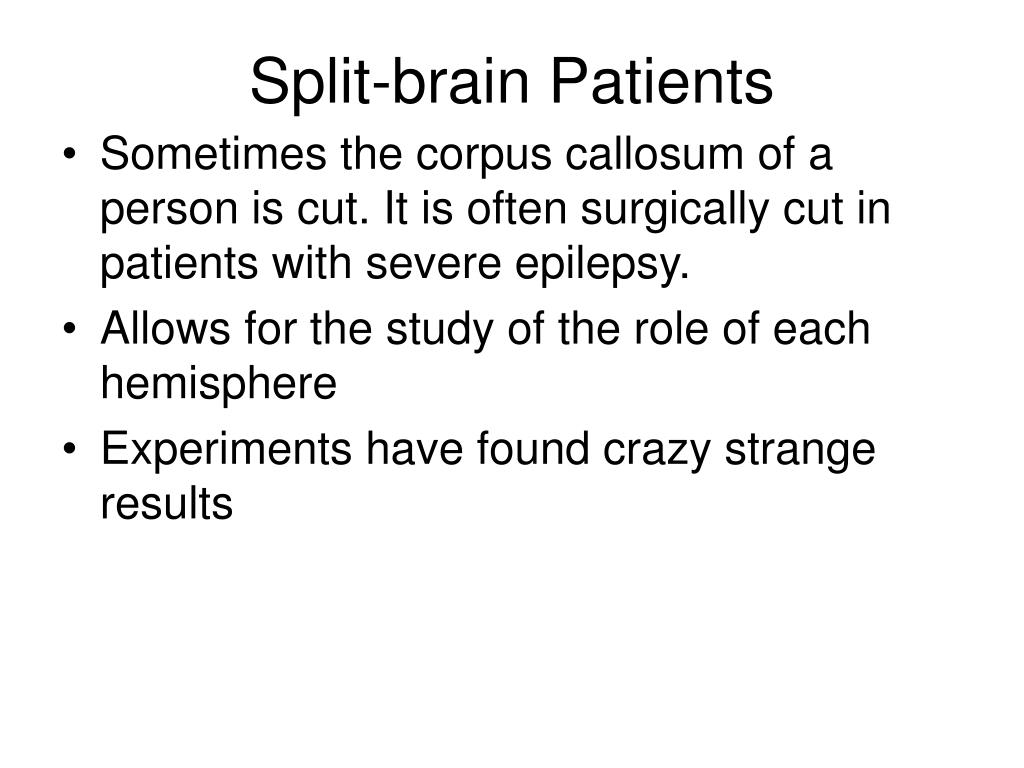 Split-brain Patients