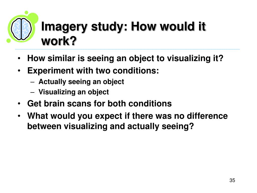 Imagery study: How would it work?