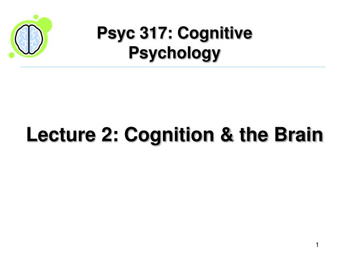 Lecture 2 cognition the brain