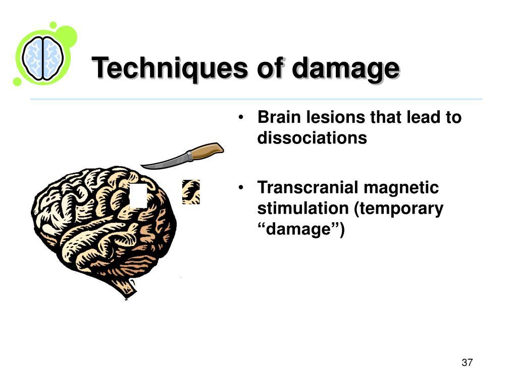 Techniques of damage