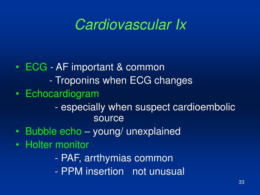 Cardiovascular Ix