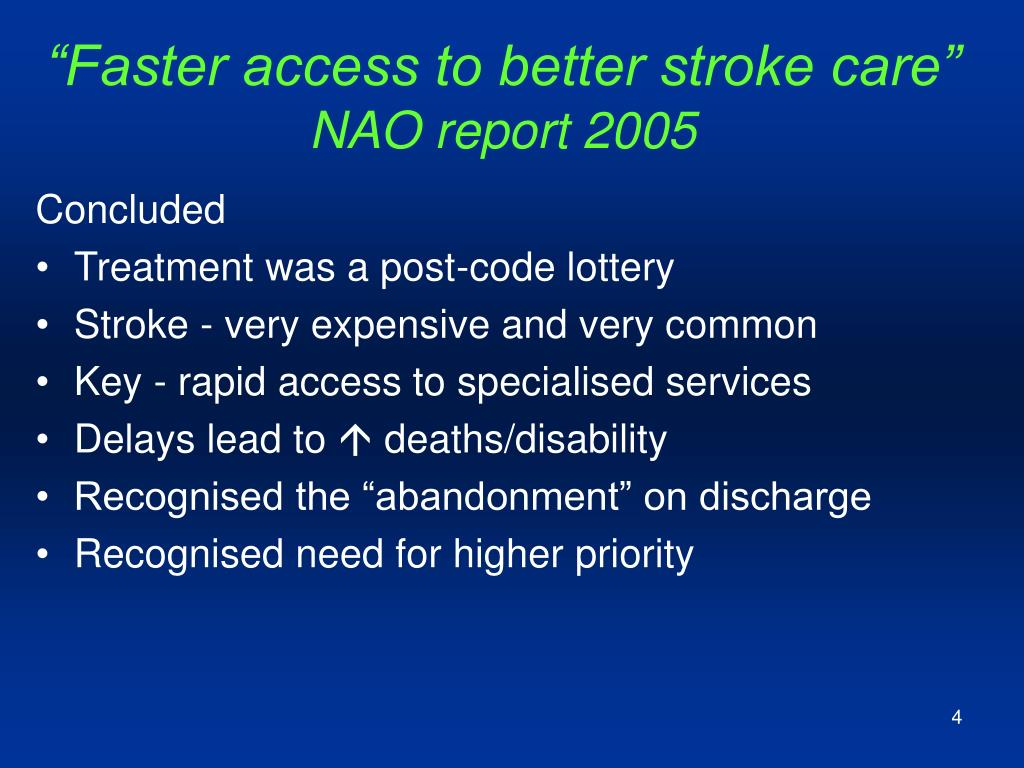 """Faster access to better stroke care"""