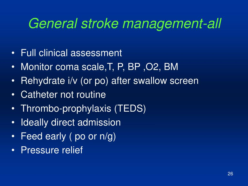 General stroke management-all