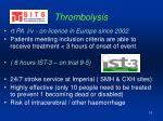 thrombolysis