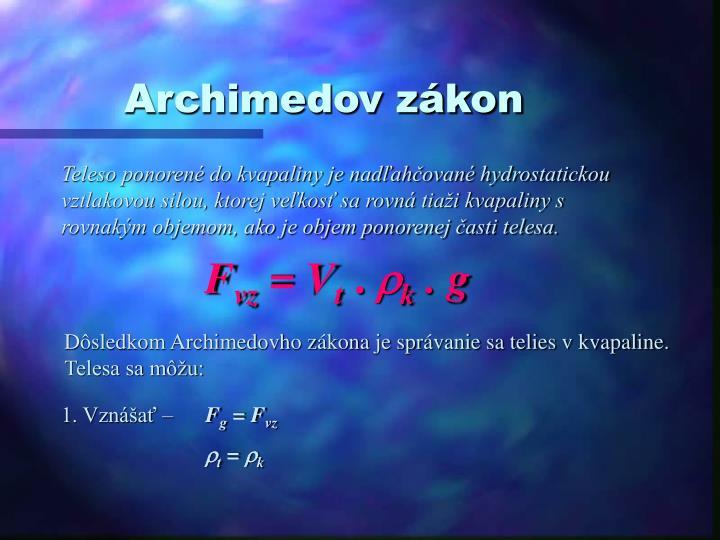 Archimedov zákon