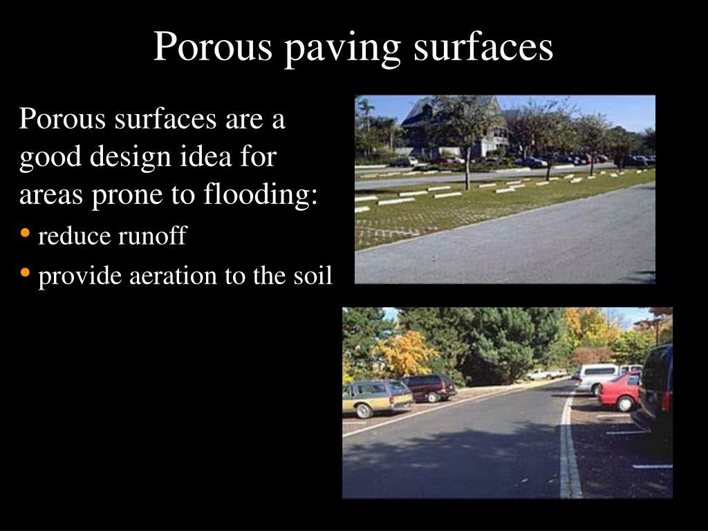 Porous paving surfaces