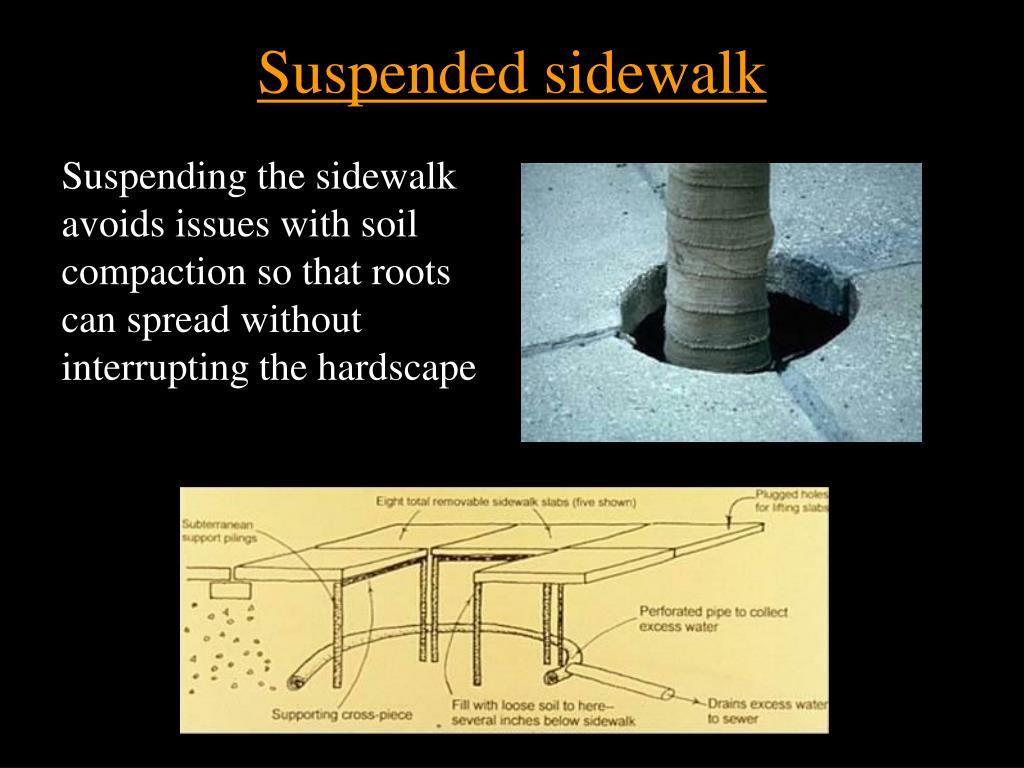 Suspended sidewalk