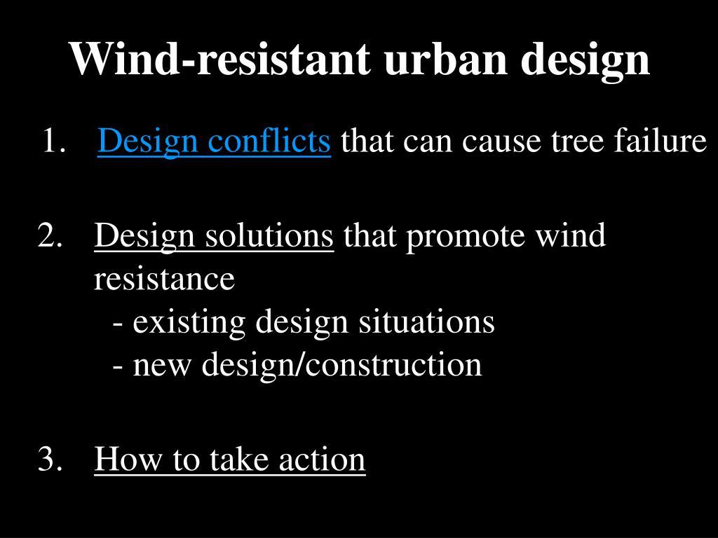 Wind-resistant urban design