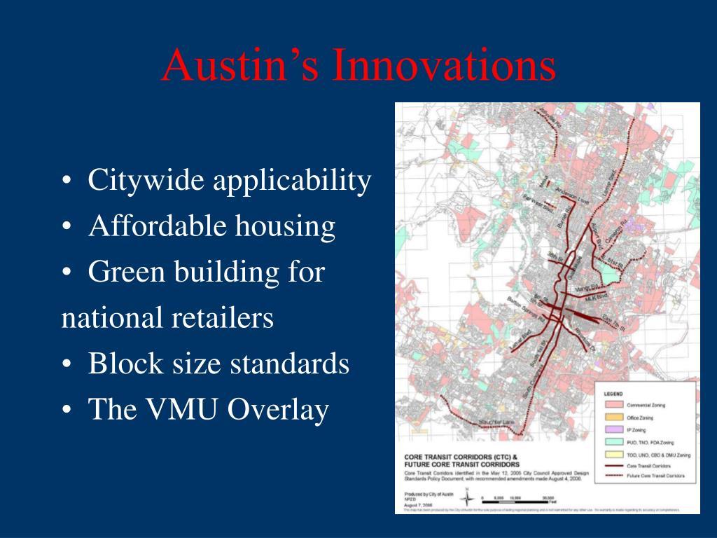 Austin's Innovations