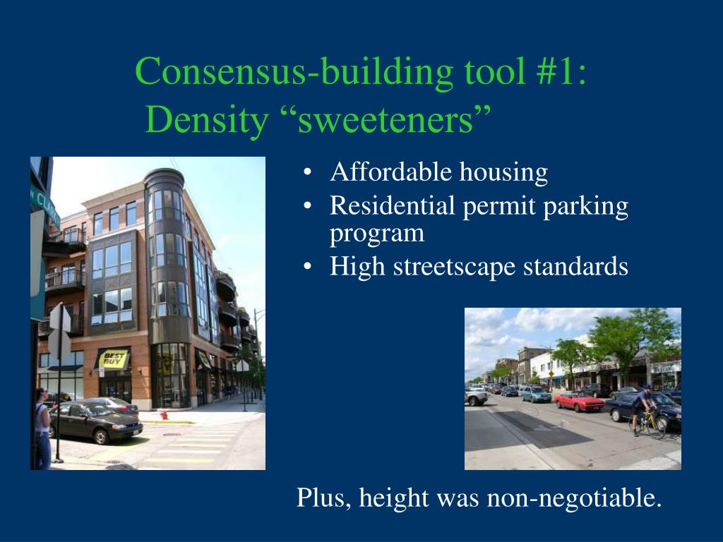 Consensus-building tool #1: