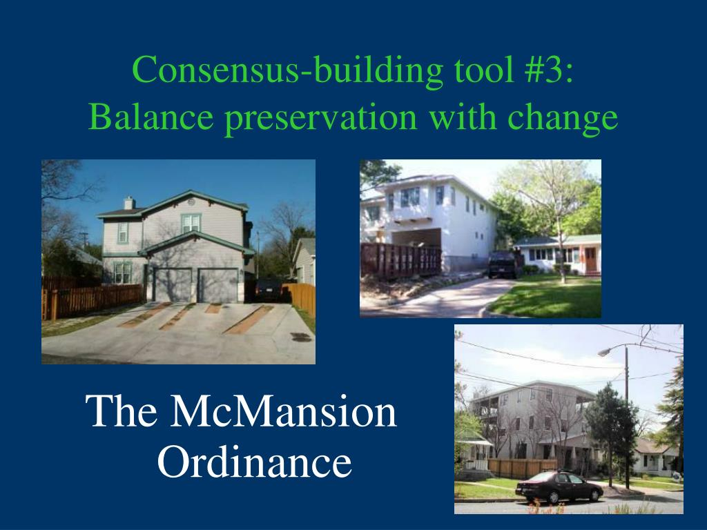 Consensus-building tool #3: