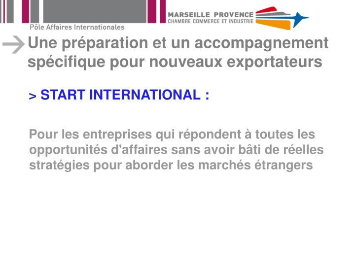 Une préparation et un accompagnement spécifique pour nouveaux exportateurs