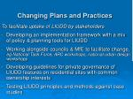 changing plans and practices
