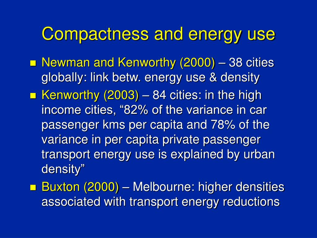 Compactness and energy use