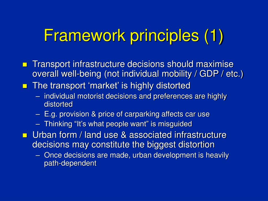 Framework principles (1)