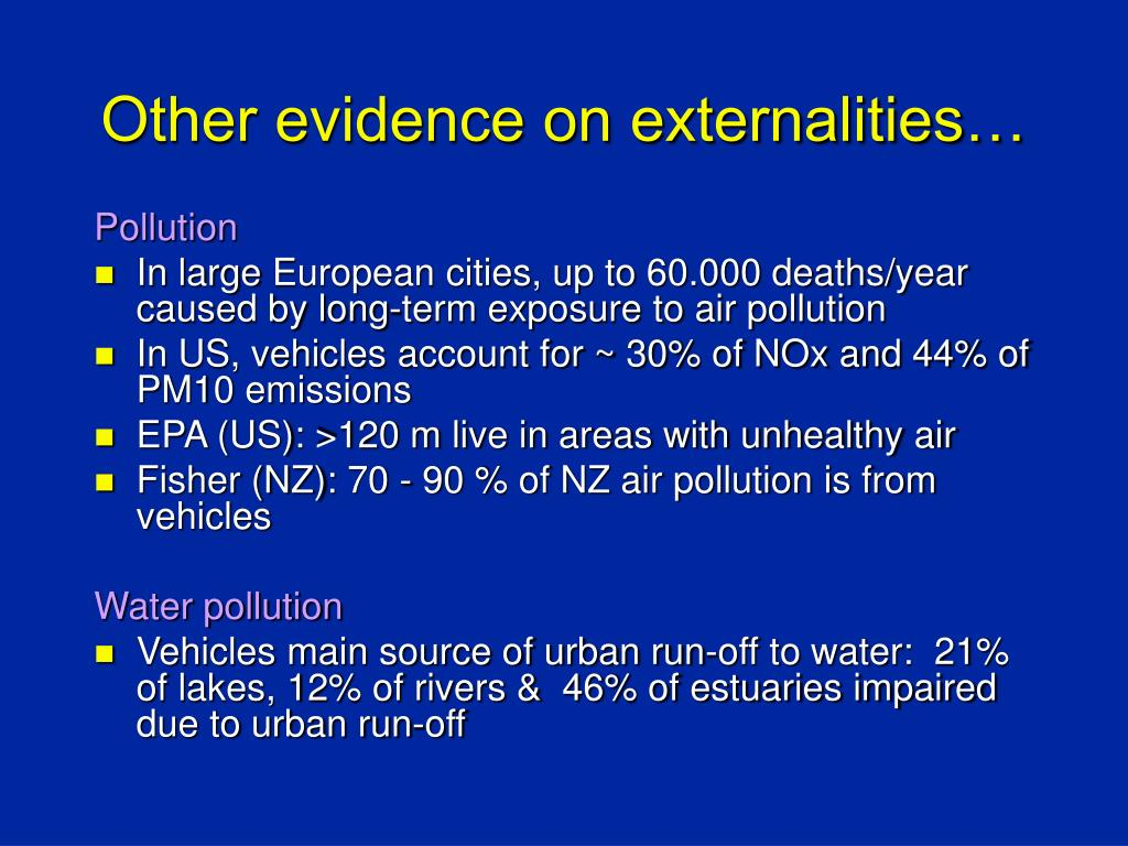 Other evidence on externalities…