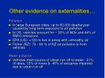 other evidence on externalities