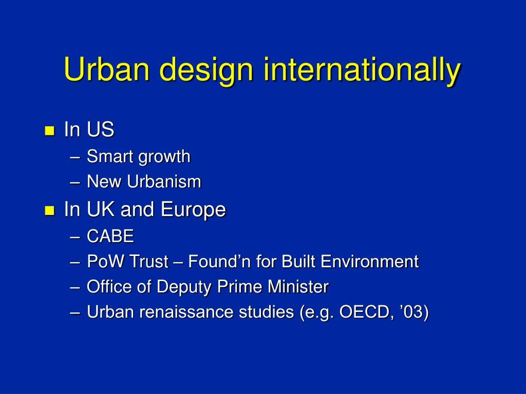 Urban design internationally