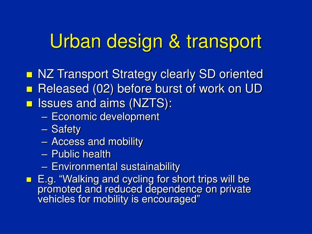Urban design & transport
