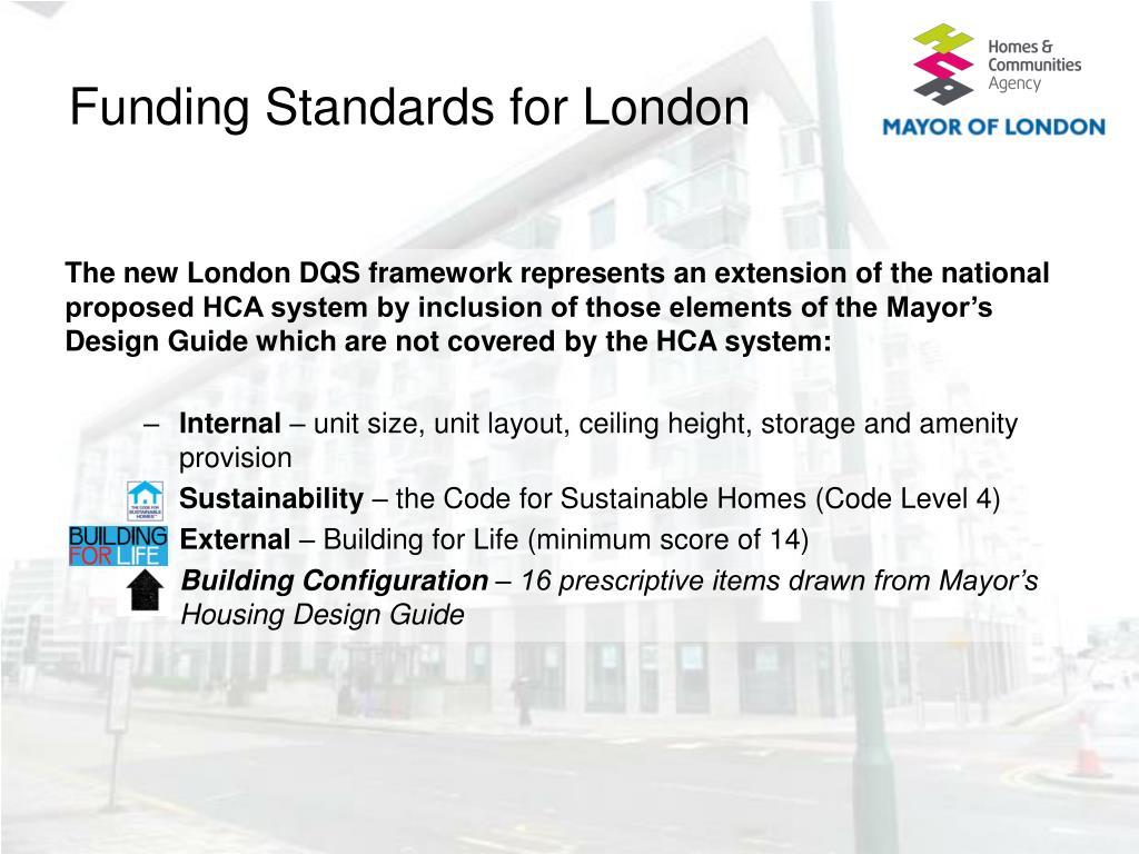 Funding Standards for London