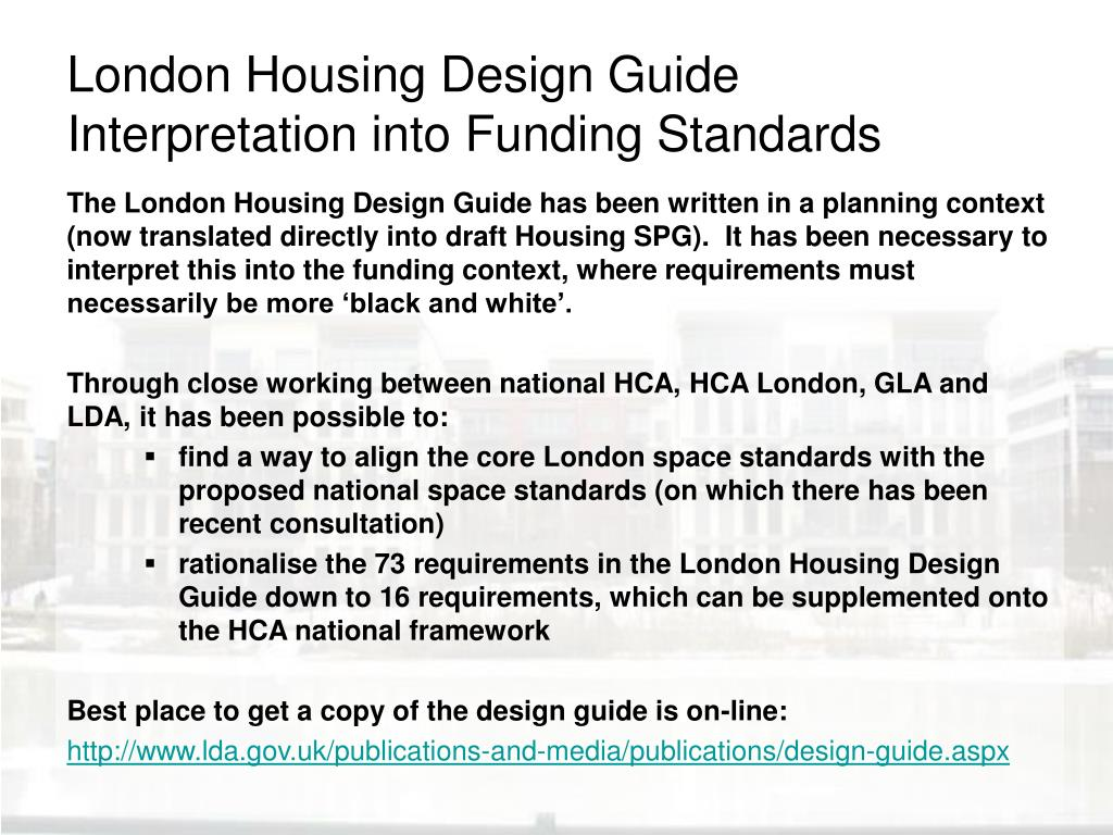 London Housing Design Guide