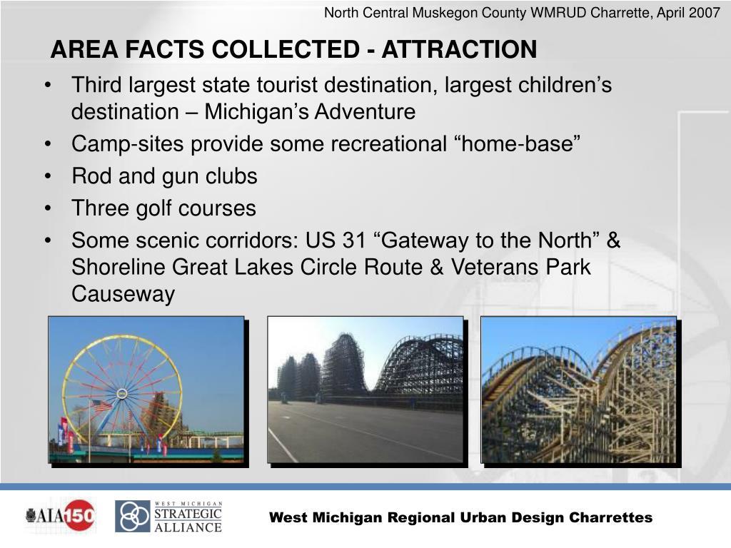 Third largest state tourist destination, largest children's destination – Michigan's Adventure