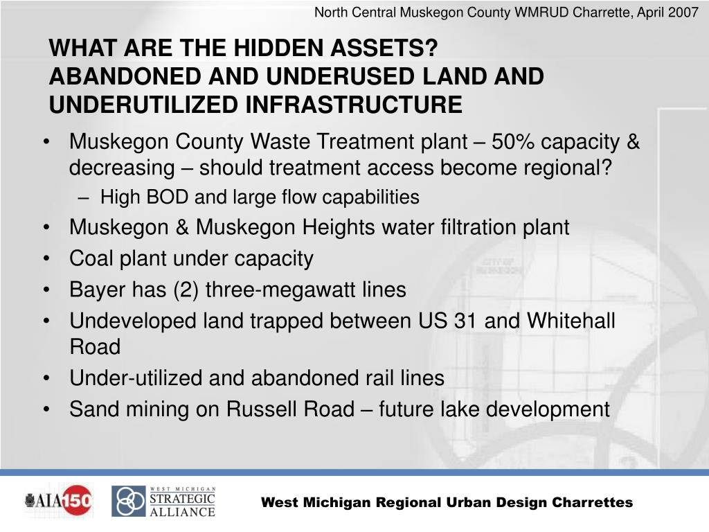 Muskegon County Waste Treatment plant – 50% capacity & decreasing – should treatment access become regional?
