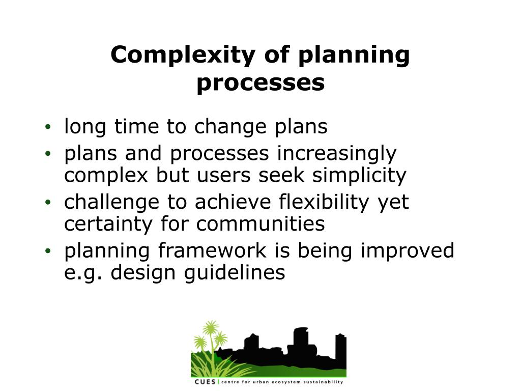 Complexity of planning processes