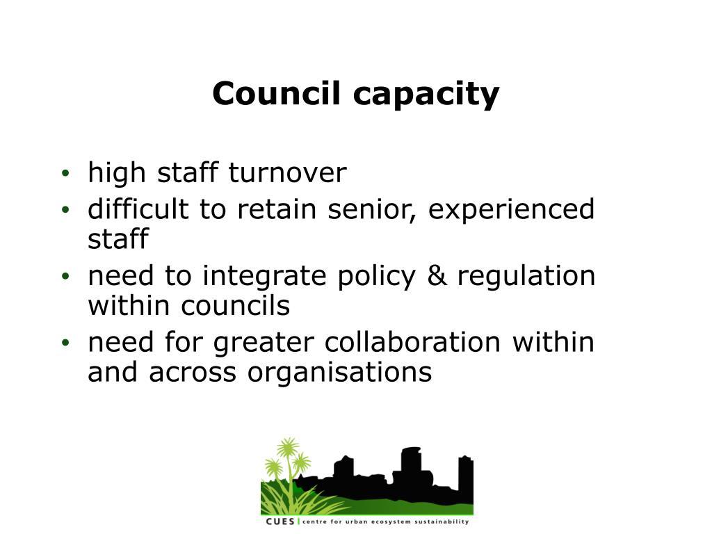 Council capacity