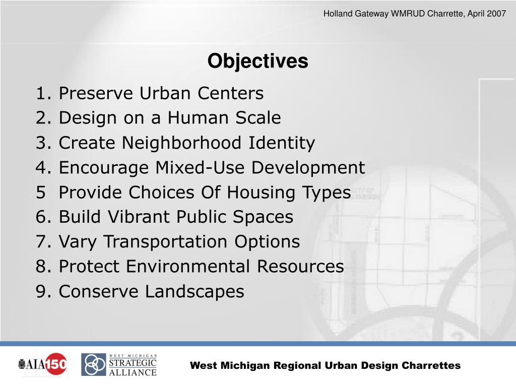 1. Preserve Urban Centers