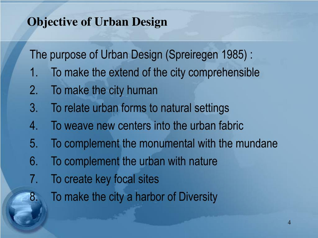 Objective of Urban Design