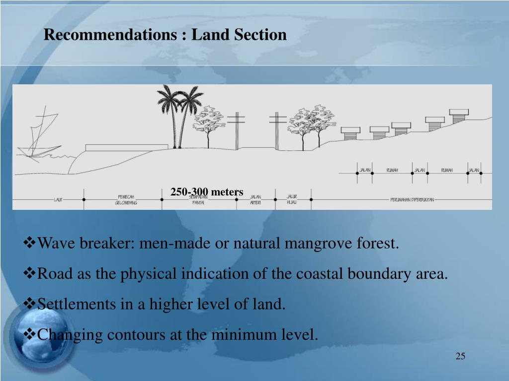 Recommendations : Land Section