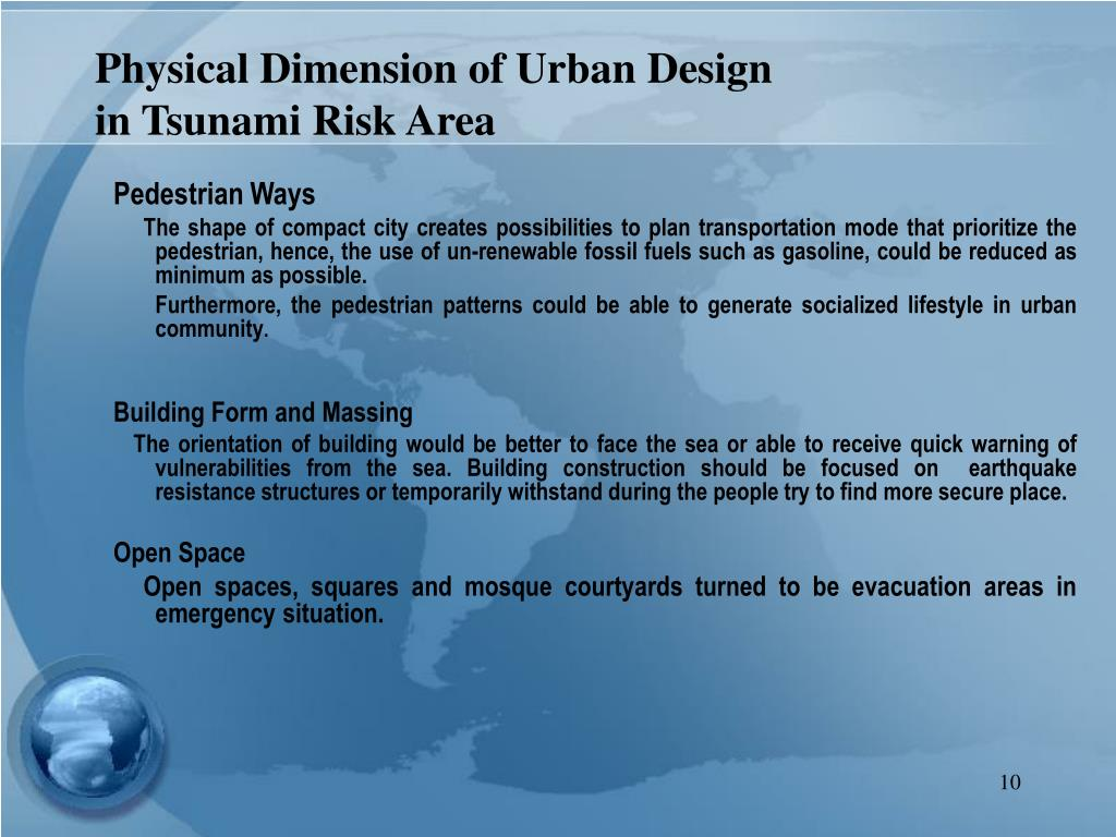 Physical Dimension of Urban Design