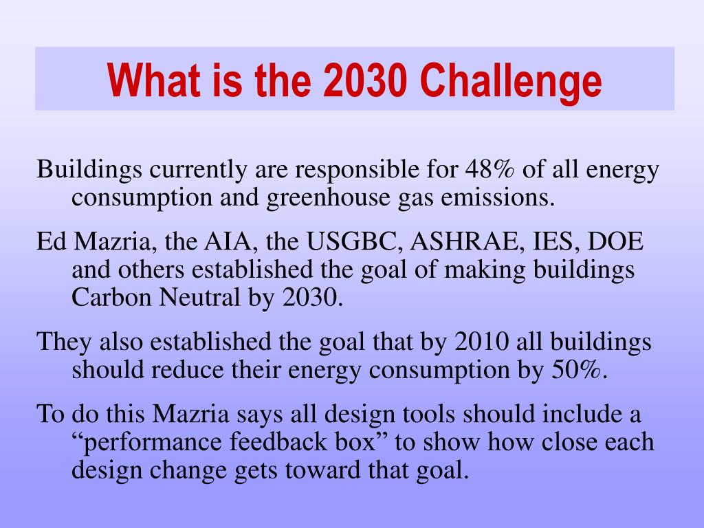 What is the 2030 Challenge