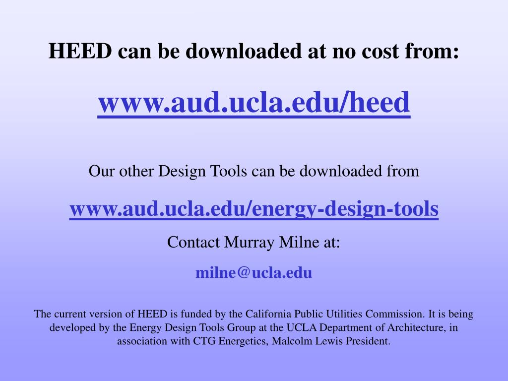 HEED can be downloaded at no cost from:
