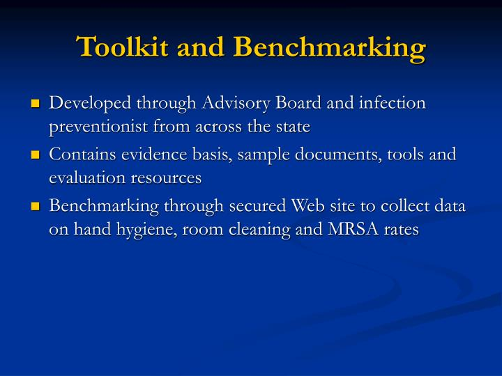 Toolkit and Benchmarking