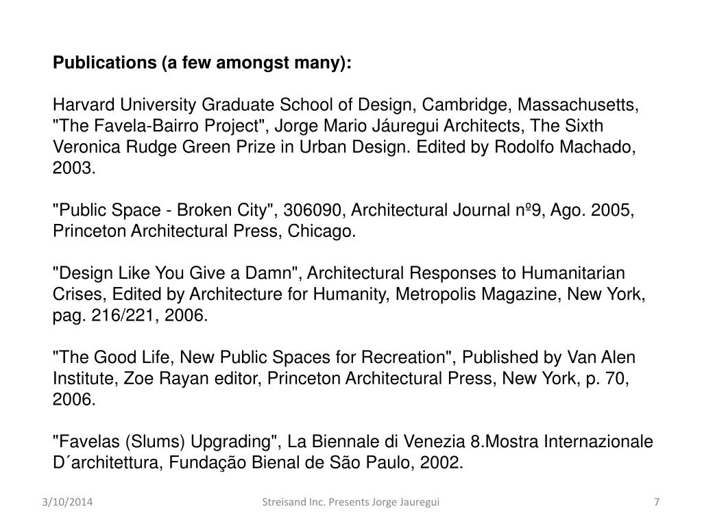 Publications (a few amongst many):