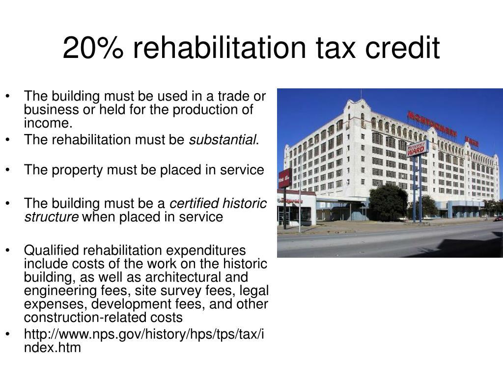 20% rehabilitation tax credit