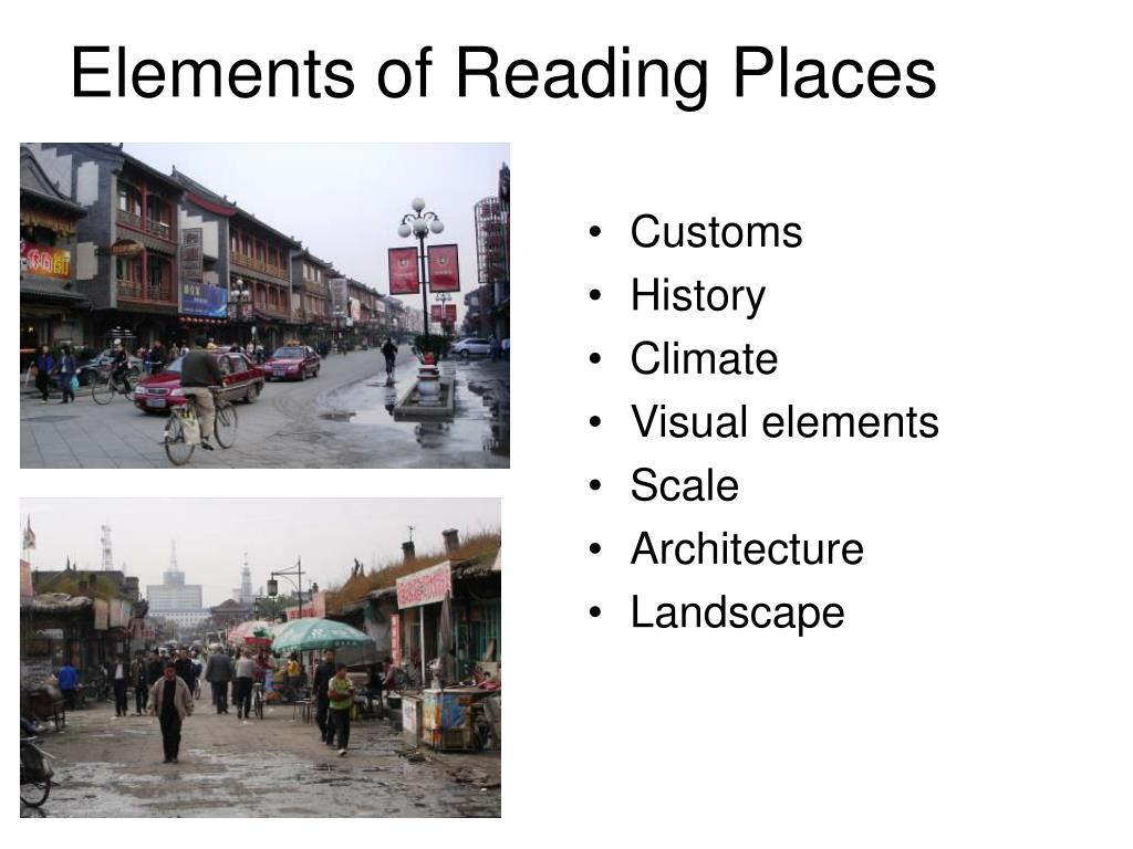 Elements of Reading Places