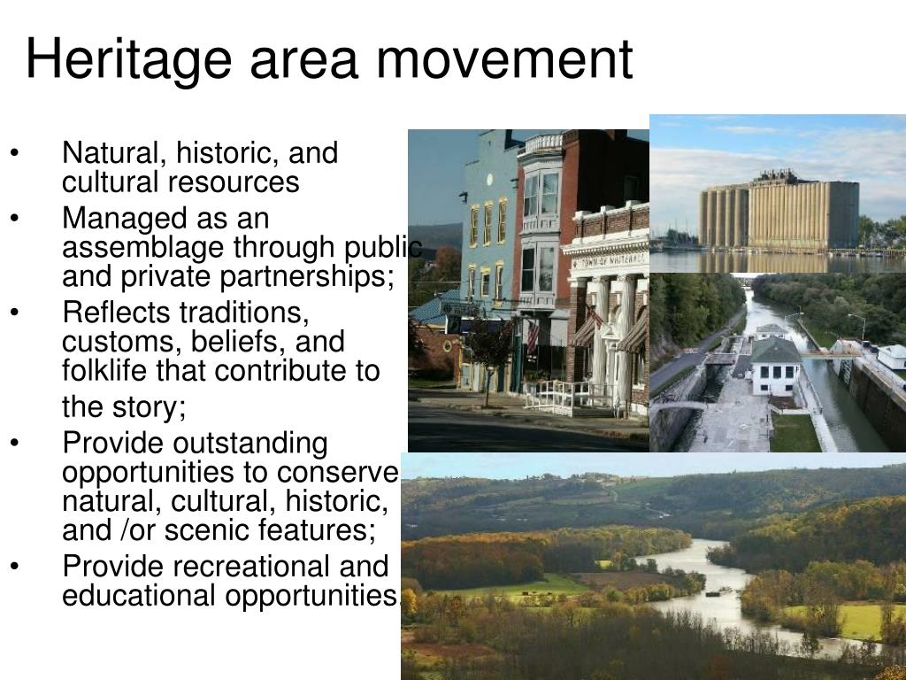 Heritage area movement