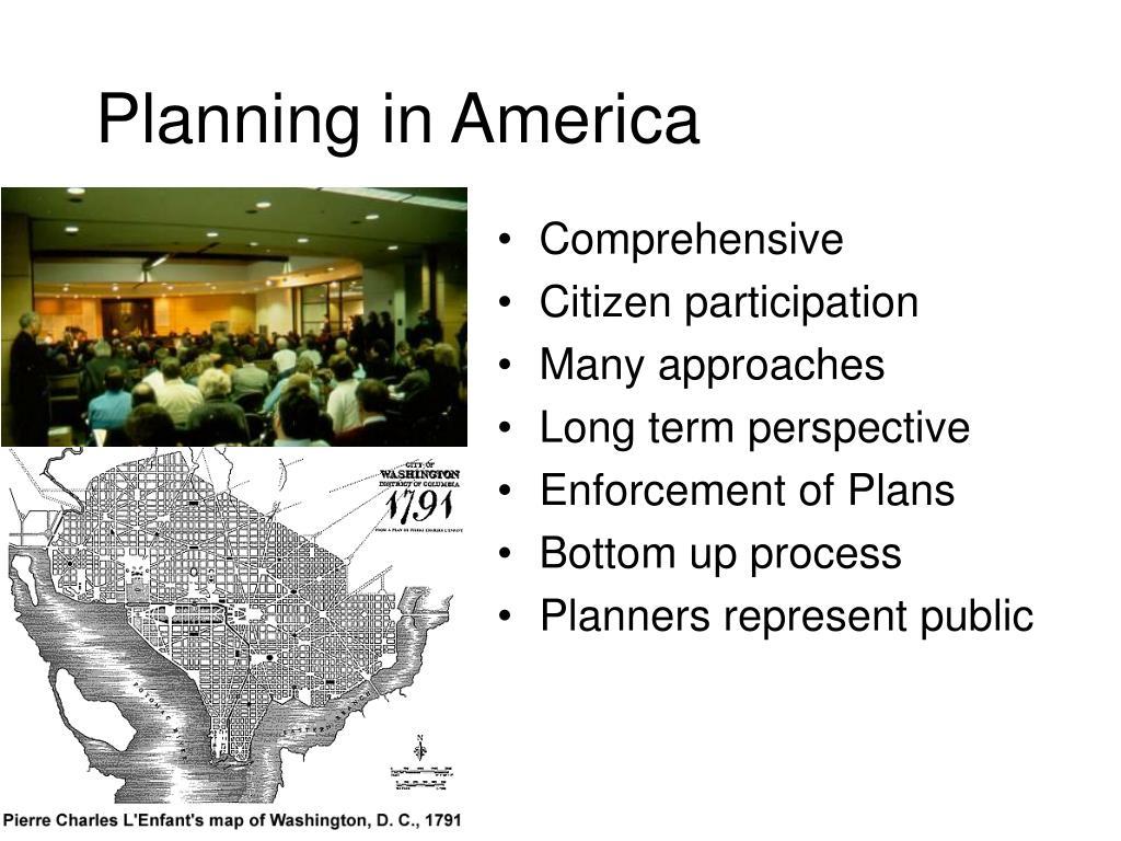 Planning in America