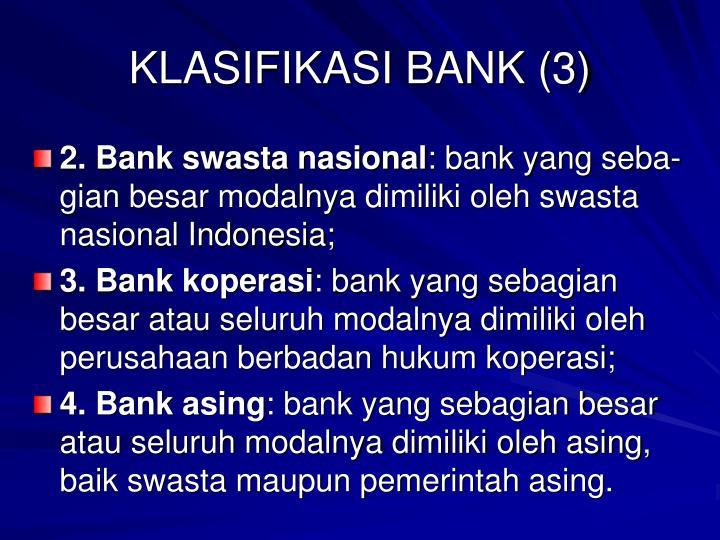 KLASIFIKASI BANK (3)