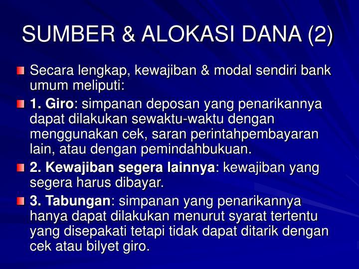 SUMBER & ALOKASI DANA (2)